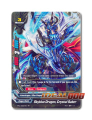 Skyblue Dragon, Crystal Saber [PP01/0001EN RR] English Golden Double Rare
