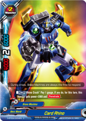 Card Rhino [D-BT02A/0024EN C] English