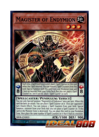 Magister of Endymion - SR08-EN003 - Common - 1st Edition