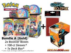 Pokemon SM12 Bundle (A) Gold - Get x2 Cosmic Eclipse Booster Box + FREE Bonus Items