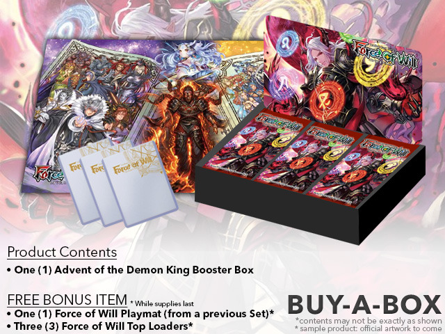 R02 Advent of the Demon King (English) Force of Will Booster Box + FREE Playmat & FoW Top Loaders