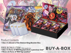 FoW-R02 Advent of the Demon King (English) Force of Will Booster Box + FREE Playmat & FoW Top Loaders