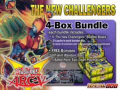 Yugioh NECH Bundle (B) - Get x4 The New Challengers Booster Boxes + FREE Bonus (T-Shirt & Playmat)