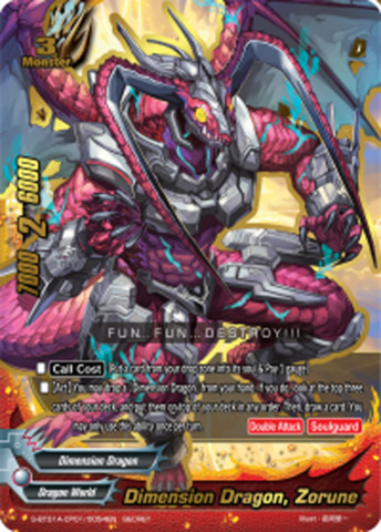 Dimension Dragon, Zorune [S-BT01A-CP01/0054EN Secret (FOIL)] English