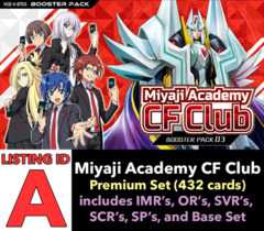 # Miyaji Academy CF Club [V-BT03 ID (A)] Premium Set [Includes 4 of each Insert and Base Set Cards (432 cards)]