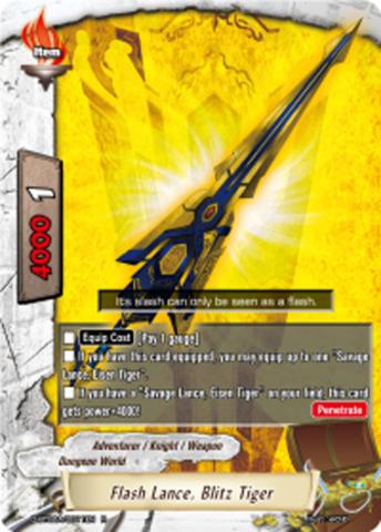 Flash Lance, Blitz Tiger [D-BT02A/0011EN R (FOIL)] English