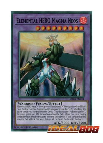 Elemental HERO Magma Neos SHVA-EN034 - Super Rare 1st Edition