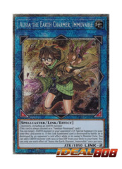 Aussa the Earth Charmer, Immovable - IGAS-EN048 - Prismatic Secret Rare - 1st Edition