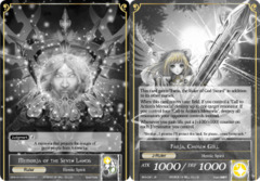 Faria, Chosen Girl // Memoria of the Seven Lands [BFA-091 UR (Uber Rare Foil Ruler)] English