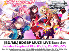 [BD/ML] BanG Dream! Girls Band Party! MULTI LIVE (EN)  Base Playset [Includes RR's, R's, U's, C's, CR's, CC's (504 cards)]