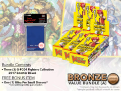 Cardfight Vanguard G-FC04 Bundle (A) Bronze - Get x3 Fighters Collection 2017 Booster Box + FREE Bonus Items