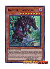 Danger! Bigfoot! - MP19-EN136 - Ultra Rare - 1st Edition