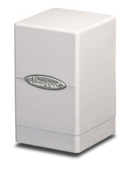 Ultra Pro Satin Tower Deck Box - White (#84172)