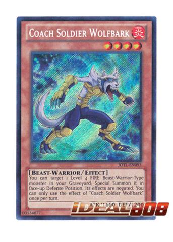 Coach Soldier Wolfbark - JOTL-EN093 - Secret Rare - Unlimited Edition