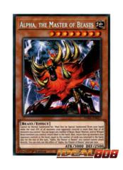 Alpha, the Master of Beasts - PHRA-EN023 - Secret Rare - 1st Edition