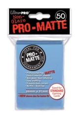 Ultra Pro Matte Non-Glare Large Sleeves 50ct. - Light Blue (#84188)