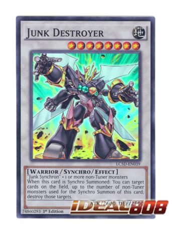 LC5D-EN039 Junk Destroyer Super Rare 1st Edition Mint YuGiOh Card