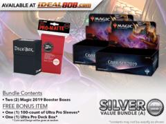 MTGM19 Bundle (A) Silver - Get x2 Magic 2019 Booster Box + FREE Bonus Items * PRE-ORDER Ships Jul.13