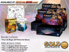 MTGM19 Bundle (B) Gold - Get x4 Magic 2019 Booster Box + FREE Bonus Items * PRE-ORDER Ships Jul.13