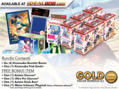 Weiss Schwarz KS Bundle (C) Gold - Get x6 Konosuba Booster Boxes & x1 Trial Deck + FREE Bonus