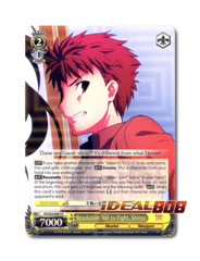 Resolution Not to Fight, Shirou [FS/S34-E007 R] English Rare