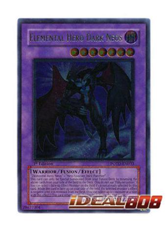Elemental Hero Dark Neos - POTD-EN033 - Ultimate Rare - Unlimited Edition