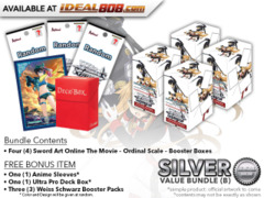 Weiss Schwarz SAO Bundle (B) Silver - Get x4 Sword Art Online The Movie – Ordinal Scale – Booster Boxes + FREE Bonus * PRE-ORDER