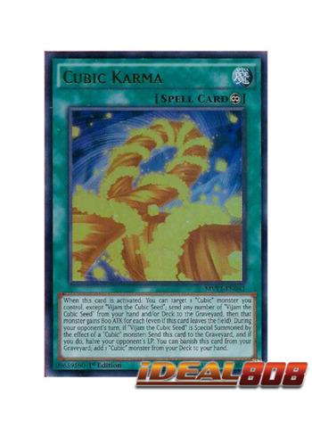 Cubic Karma - MVP1-EN041 - Ultra Rare - 1st Edition