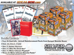 Weiss Schwarz Bundle (B) Silver-x4 KanColle: Arrival! Reinforcement Fleets from Europe! Booster Box + FREE Bonus
