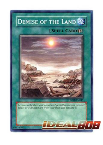 LODT-EN047 Near Mint Common 1x Demise of the Land 1st Edition