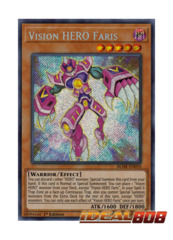 Vision HERO Faris - BLHR-EN010 - Secret Rare - 1st Edition