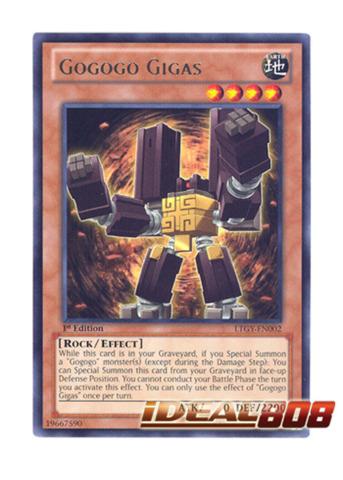 LTGY-EN002 Gogogo Gigas Rare 1st Edition Mint YuGiOh Card kaartspellen