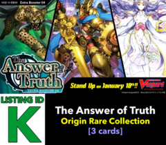 # The Answer of Truth [V-EB04 ID (K)] Origin Rare Collection x1 [Includes 1 of each OR's (3 cards)]