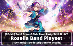 [BD/ML] BanG Dream! Girls Band Party! MULTI LIVE (EN) Roselia Band Playset [100 cards] (See description for details)