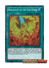 Onslaught of the Fire Kings - HISU-EN055 - Super Rare - 1st Edition