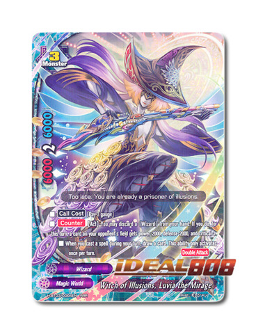 Witch of Illusions, Luvia the Mirage [H-BT03/0004EN RRR] English Foil