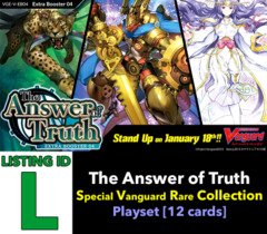 # The Answer of Truth [V-EB04 ID (L)] Special Vanguard Rare Playset [Includes 4 of each SVR's (12 cards)]