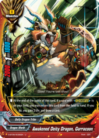 Awakened Deity Dragon, Garracoon [S-BT06/0036EN U (Regular)] English