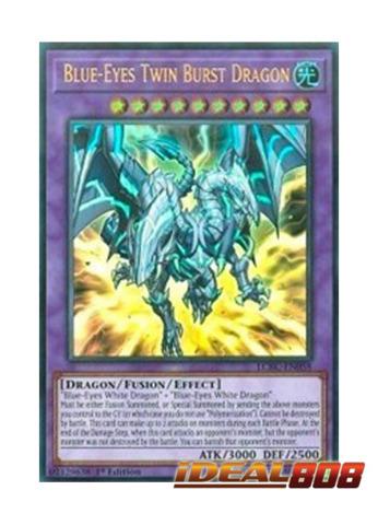 Yugioh Blue-Eyes Twin Burst Dragon Ultra Rare LCKC 1st Edition Near Mint