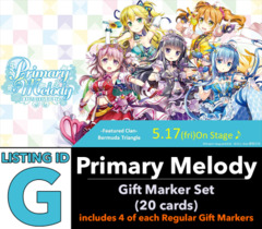 # Primary Melody [V-EB05 ID (G)] Gift Marker Set [Includes 4 of each Matte Finish GM's (20 cards)]