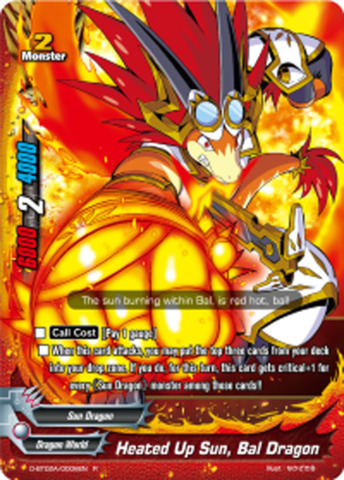 Heated Up Sun, Bal Dragon [D-BT02A/0006EN R] English