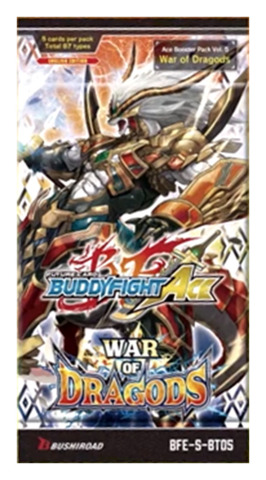 BFE-S-BT05 War of Dragods (English) Future Card Buddyfight Ace Booster Pack [5 Cards]