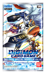 DGMN-BT01-03 Ver.1.0 Release Special Ver.1.0 (English) Digimon Booster Pack [12 Cards] * PRE-ORDER Ships Nov.27
