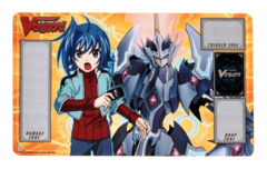 Cardfight Vanguard Playmat - BT05 [Aichi/Majesty Lord Blaster] Awakening of Twin Blades