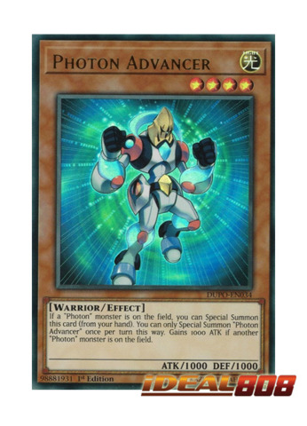 Yugioh DUPO-EN034 Photon Advancer Ultra Rare 1st Edtion NM