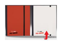 Ultra Pro 4-Pocket FLIP Pro Binder - Red/White (#84025)