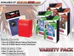 CFV-V-TD05-V-TD06 VARIETY PACK - Get x2 Misaki Tokura Decks & x2 Naoki Ishida Decks + FREE Bonus Items