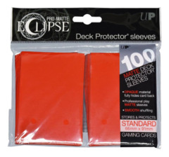 Ultra Pro Matte Eclipse Standard Sleeves 100ct - Apple Red [#85604]