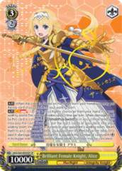Brilliant Female Knight, Alice [SAO/S65-E004SP SP (SIGNED FOIL)] English