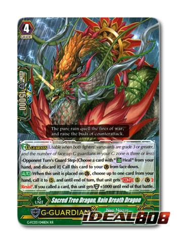 Sacred Tree Dragon, Rain Breath Dragon - G-FC03/048 - RR